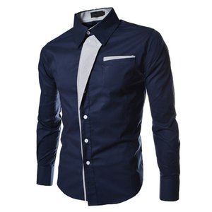 Syb Autumn Slim New Fit Male Casual Langarmshirts Hemden Soziale Blusen 2016 Großhandel - Streifen LQHad