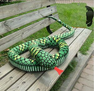 BIR ADET 2.8 m simülasyon boa yılanı / yılan Peluş Dolması Hayvan Doll Yumuşak Oyuncak
