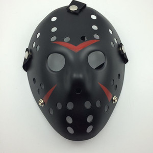 Negro-rojo Jason Mask Cosplay máscara de asesino de la cara completa Jason vs Friday Horror Hockey Halloween Costume Scary Mask envío gratis
