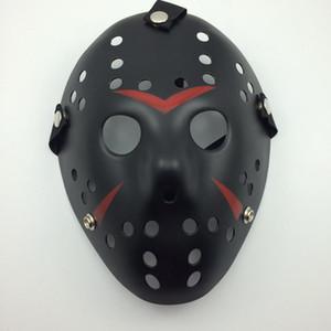 Máscara de Jason Black-Red Cosplay Completa Rosto Assassino Máscara Jason vs Friday Horror de Hóquei Halloween Traje Máscara Assustadora frete grátis