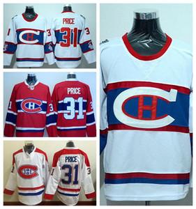 Inverno Classic 31 Carey Prezzo Jersey Montreal Canadiens Maglie da hockey su ghiaccio Carey Prezzo Rosso Bianco Colore squadra Alternativo Migliore qualità