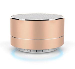 Altavoz 1PCS A10 LED metal inalámbrica Bluetooth con micrófono portátil mini estéreo bajo estupendo del subwoofer Música Soporte de tarjeta TF altavoz