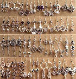 최고 품질 패션 알레르기 귀걸이 실버 박스형 롱 귀걸이 한국 보석 다이아몬드 귀걸이 여신 스타일