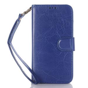Style de livre Crazy Horse Portefeuille Folio Stand Housse en cuir avec fente pour carte de crédit poche d'argent pour Samsung Galaxy j7 2016