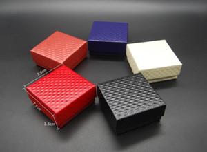 Caliente vitrinas de joyería Collar de cartón Pendientes Anillo Pulsera Joyerías Conjuntos Caja Embalaje Caja de regalo con esponja