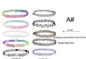 2017 hochwertige Mode Halsband Linie Tattoo Kragen Set, Farbe Halskette Kombination von satten Farben, Mode Halskette, Kragen Großhandel