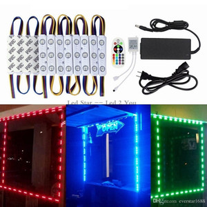 10ft 20ft 30ft 40ft 50ft 50ft Led Moduli Luci 5630 5050 RGB Brightest STOREFRONT FINESTRA LED LUCE + Telecomando + Alimentazione