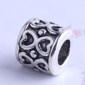 Liebe hohlen Design Pandora lose Perle Charme Antik Silber / Bronze Zink-Legierung für DIY Anhänger Schmuck machen Zubehör 300pcs 2572