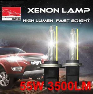 1 Pair H1 H3 H7 H8 H9 H11 9005 9006 9012 12V 55W 3500LM Genuine AC HID Xenon Replacement Headlamps Bulbs High Lumen Fast Bright Metal Base