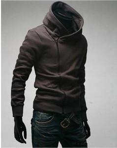 cremallera al por mayor LIBRE DE ENVÍO Cuello alto de los hombres de la chaqueta de la capa de polvo superior sudaderas con capucha ropa M L XL XXL XXXL de la primavera nuevos hombres inclinados