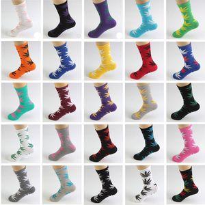 50 ألوان عالية طاقم سكيت hiphop الجوارب ورقة القيقب يترك الجوارب جوارب القطن للجنسين الجوارب الحياة النباتية 1 وحدة = 2 قطعة = 1 pair
