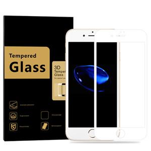 Pour iPhone 7 7P Protecteur d'écran en verre trempé, anti-égratignure, tactile 3D très clair, compatible / Épaisseur de 0.3mm / Dureté 9H / Écran sans bulle