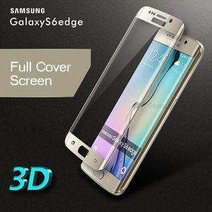 3D изогнутая поверхность полный экран крышка взрывозащищенный закаленное стекло пленка для Samsung Galaxy S7 edge S6 Edge Plus с Retailbox