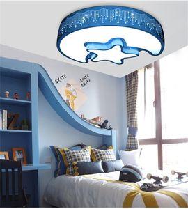 L63-Moderne einfache und schöne Sterne Mond LED Deckenleuchte Kindergarten Kinderzimmer Augenschutz Lichter Acryl Deckenbeleuchtung Lampen
