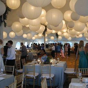 10 pcs 16 Polegada 40 cm Lanternas De Papel Branco Papel Chinês Bola Levou Lampion Para Festa de Casamento Evento Cerimônia de Aniversário decoração