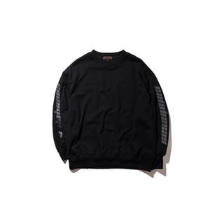 Stagione 4 Maniche lettere nero bianco rosso girocollo con cappuccio da uomo maglione con cappuccio Hip Hop Fashion Felpe con cappuccio