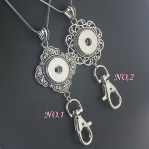 Металлические джинсы Snap Jewelry Necklace Pendant Keychain Lanyard Badge Lanyard Рабочие документы для 18MM / 20MM Snap Button без цепей