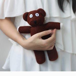 Ursinho de pelúcia 24CM Mr Bean bicho de pelúcia Plush Toy Brown boneca Figura de peluche bonito pequeno macio do urso Grils brinquedo caçoa o presente