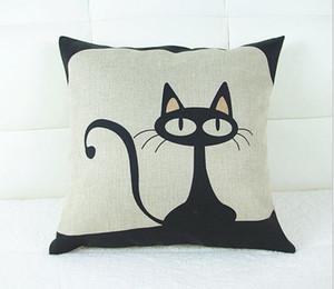 1 X Vintage Подушка чехол кошка котенок Композитный белье подушка крышка 42x42cm