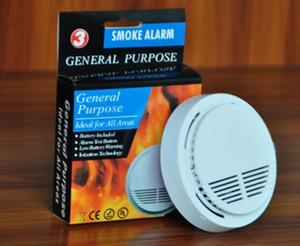Beyaz Kablosuz 9V Pil ile Dedektör Sistemi Duman Tespit Evde Güvenlik Yüksek Hassasiyet Kararlı Yangın Alarmı Sensörü Uygun İşletilen