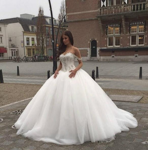 US 2 4 6 8 10 12 14 16 18++ Wedding Dresses Ball Gown Gorgeous Princess Custom Made Bridal Tulle Romantic Modern