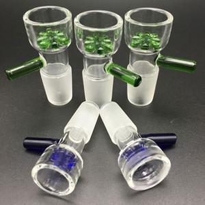 Commercio all'ingrosso ciotola 14mm e 18 millimetri ciotola di vetro Maschio Con il fiore del fiocco di neve filtro ciotole per bong in vetro acqua Bong fumatori bocce