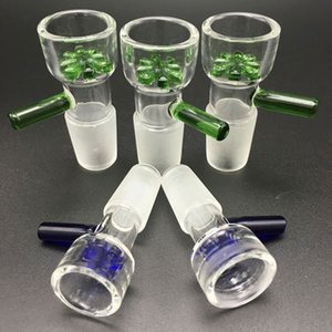 bowl 14 milímetros atacado e 18 milímetros tigela de vidro Masculino Com flor Snowflake Filtro taças para bongs de vidro Água Bongos fumadores tigelas