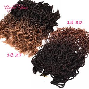 neue Art Pre-Twisted Curl senegalesischen Twist häkeln Zöpfe Haar 16inch halbe Welle halb verworrenes lockiges Haar Extensions synthetische Haare flechten