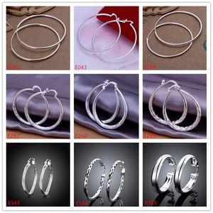10 Paare gemischte Artfrauen 925 silberner Ohrring GTE58, hochwertige Groß-Mode Band Huggie Sterling Silber Ohrringe