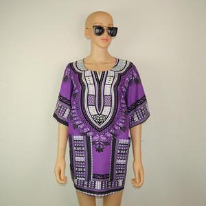 Boho женщины летнее платье хиппи панк традиционный Даши топ рубашка платья для африканской одежды плюс размер