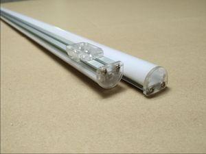 Бесплатная доставка светодиодная лента жесткий бар алюминиевый профиль наружное применение с матовой крышкой торцевые крышки