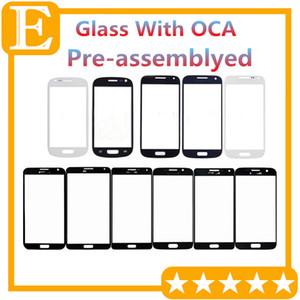 Grade A + pour Samsung Galaxy S3 Mini VS Note 1 3 Mini objectif en verre extérieur avec film OCA pré-assemblé blanc brillant 20pcs