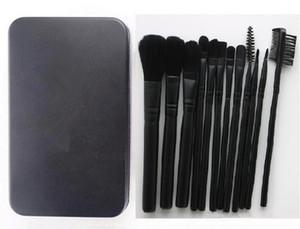 Makyaj Araçları Fırçalar Mc mP Güzellik 12 parça Profesyonel Fırça setleri Demir kutusu Siyah renk DHL kargo