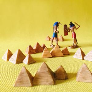10pcs pyramide célèbre architecture statue / fée jardin gnome / mousse terrarium décor à la maison / artisanat / bonsaï / miniatures / figurine