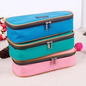 Wholesale- Stationery vintage cute pencil case multifunctional big capacity pencil box waterproof nylon stationery pen bags