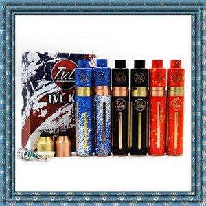 기화기 TVL Colt 45 Mod 스타터 키트 TVL Colt45 기계식 MOD 18650 TVL RDA 분무기가 장착 된 배터리 튜브 황동 동합재 Ecig Mods