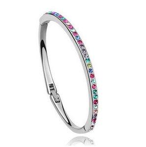 Bracelet en alliage bracelet mince bracelet en diamant complet or argent plaqué strass bracelet bijoux de mode bracelet diamant dhl