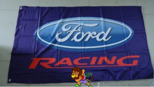 Форд гоночный флаг автомобиля ,размер футов 90x150cm,100% полиэфира, флаг король ,цифровая печать