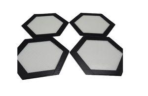 Forma de hexágono Por Atacado de silicone liso De Fibra De Vidro Silicone Macaron Cozimento Mat Esteira De Cozimento Bandeja Forno Massa Folha De Forro De Rolamento