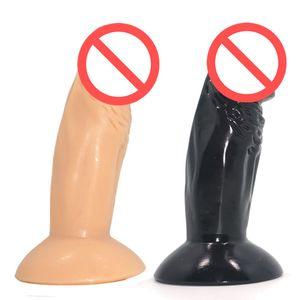 2017 Nueva Consolador realista pene enorme Juguetes sexuales para Toy Mujer de silicona de goma real Dick Prepucio gran consolador de succión adulto del sexo del producto