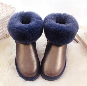 Hot new transporte rápido new Real Austrália de Alta qualidade Kid Meninos meninas crianças bebê botas de neve quente Estudantes Adolescentes Neve botas de inverno 1 par