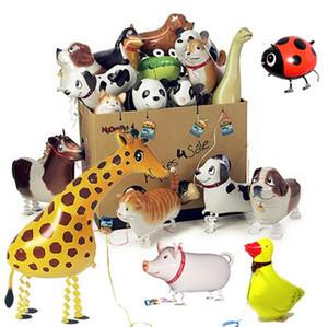 1000x aerostato ambulante animali modelli ibridi di palloncini animali alluminio animali lamina in mongolfiera, passeggiate animali da compagnia giocattoli per bambini palloncini