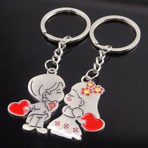 NUEVO Wedding Keychain Lovers Keychain boda Niños estilo aleación llavero alta calidad favorece llaveros envío gratis
