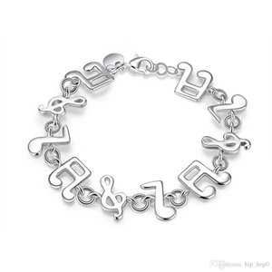 Music Melody Charms Bracelet 925 Sterling Silver Jewelry Classic Fashion Accessories for Women Girls Link Friendship Christmas Gifts