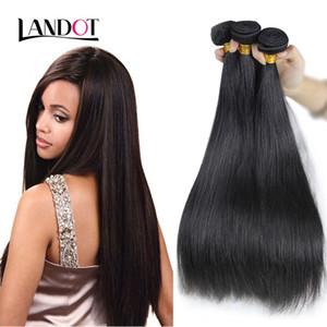 Brésilienne de Cheveux Vierges Droite Non Transformée Indien Péruvien Malaisien Cambodgien Russe Européen Remy Faisceaux de Tissage de Cheveux Humains Couleur Naturelle