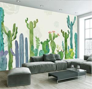 Grandes 3D Cacti Wall Murals Photo Wallpaper for Living Room Cactus Plant Papel de pared 3 D papel de parede do desktop Tamaño personalizado