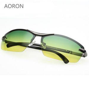 Día de la noche Vison multifunción hombres gafas de sol polarizadas reducen el deslumbramiento gafas de conducción deporte al aire libre Gafas de sol de cristal Eyewear de sol
