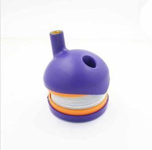 Гибкий Flex Plastic Stretch Caterpillar курительные трубки Курильщик Green Pipe курения табака Аксессуары Clone инструменты