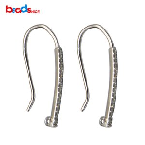 Beadsnice 925 Sterling Silver French Earring Crochet Oreille Wire Earring Connector avec CZ Femmes Bijoux Accessoire ID36584