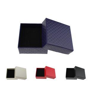 Caja de joyería de diamante para collar Pendientes Anillo Colgante Joyas de embalaje y pantalla 7.3x7.3x3.5cm